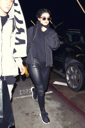 Kylie Jenner leaving LAX airport