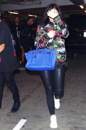 Kylie Jenner leaving Tyga's concert
