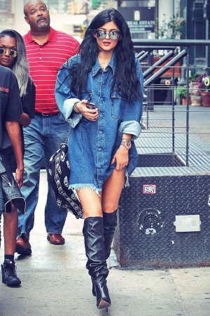 Kylie Jenner out in Soho district of New York City