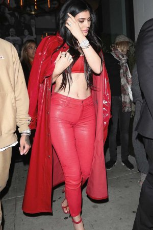 Kylie Jenner spotted at Catch LA For Date Night