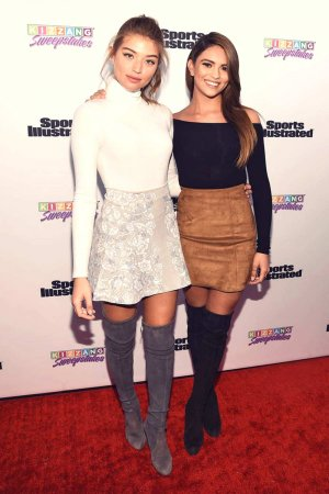 Kyra Santoro & Daniela Lopez Osorio attend Sports Illustrated and KIZZANG Bracket Challenge Party