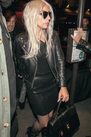 Lady Gaga arrives at the Celine after party