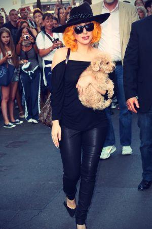 Lady Gaga arrives in Vienna