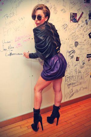 Lady Gaga at SiriusXM Studio in New York City