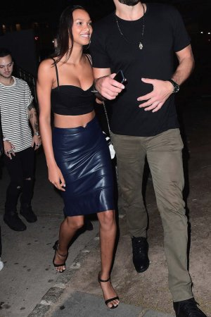 Lais Ribeiro leaving the Tao Restaurant