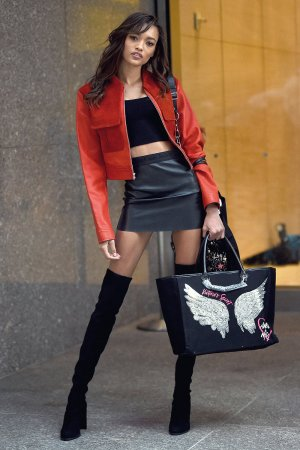 Lameka Fox attends Victoria's Secret models attended a pre-show fitting