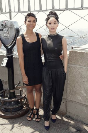 Lana Condor and X-Men Apocalypse Visits Empire State Building
