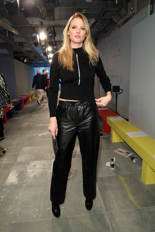 Lara Stone attends Christopher Kane Show