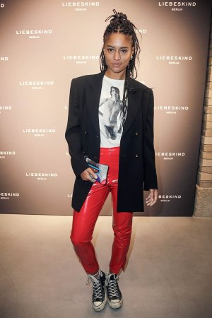 Larissa Sirah Herden attends the Liebeskind Berlin housewarming party