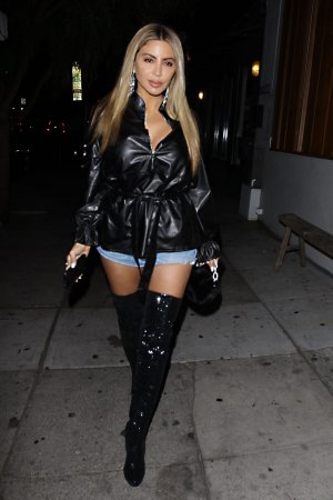 Larsa Pippen arrives for Nicole Williams' birthday party