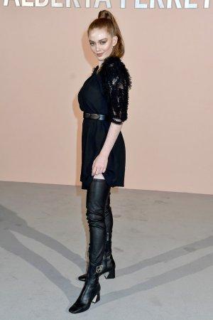 Larsen Thompson attends Alberta Ferretti show
