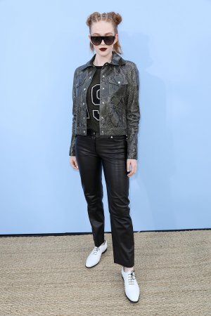 Larsen Thompson attends Michael Kors show
