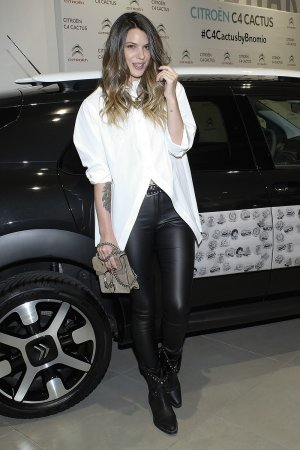 Laura Flores attends the 'C4 Cactus by Bnomio Tattoo Proyect' launch