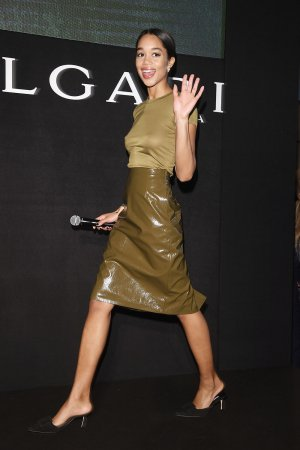Laura Harrier attends Bvlgari Cocktail