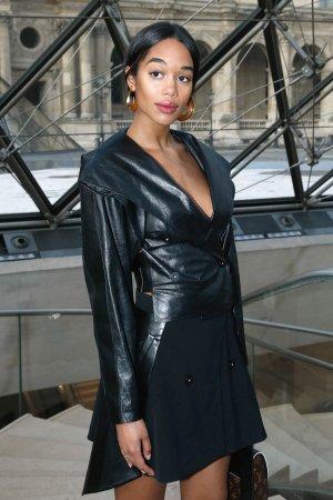 Laura Harrier attends the Louis Vuitton show