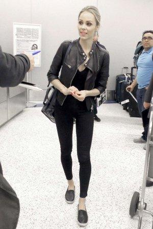 Laura Vandervoort at LAX Airport