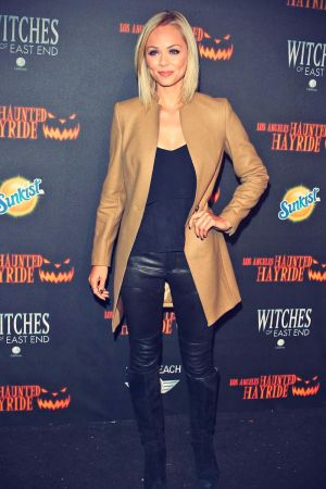 Laura Vandervoort attends 5th Annual Los Angeles Haunted Hayride