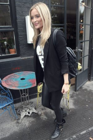 Laura Whitmore arrives at Bourne and Hollingsworth Buildings