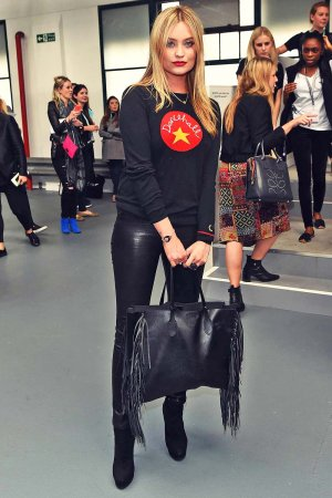 Laura Whitmore attends Eudon Choi show