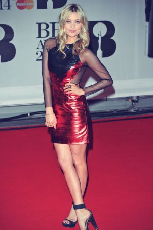 Laura Whitmore attends The BRIT Awards 2014