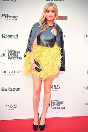 Laura Whitmore attends UK Fashion and Textile Awards