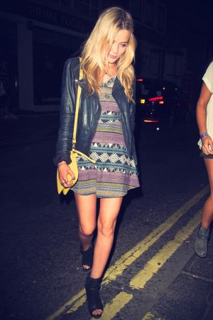 Laura Whitmore leaves the Groucho Club