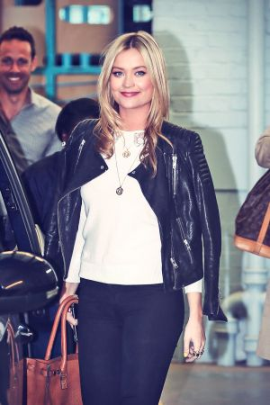 Laura Whitmore leaving the ITV studios