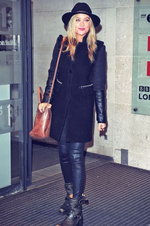 Laura Whitmore seen at the BBC Radio One Studios