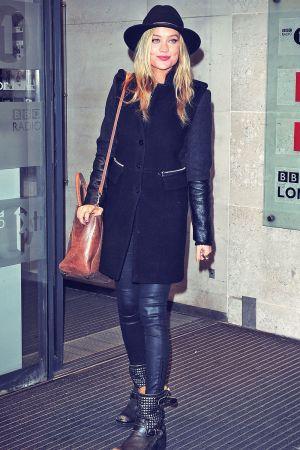 Laura Whitmore seen at the BBC Radio One Studios