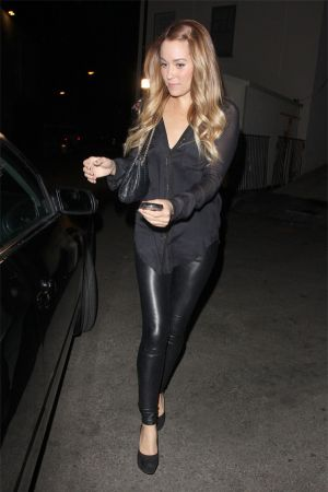 Lauren Conrad in leather trousers