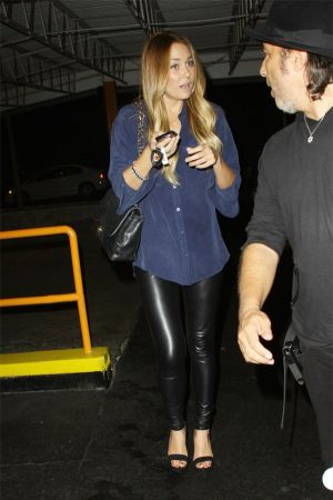 Lauren Conrad leaving Beacher´s Madhouse in Hollywood