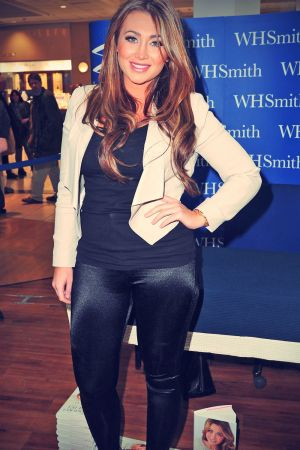 Lauren Goodger at her book signing event