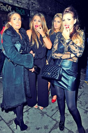 Lauren Goodger attends Christmas party at Shaka Zulu