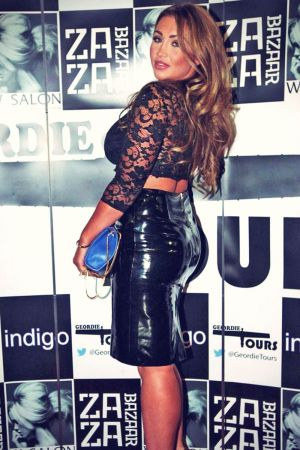 Lauren Goodger attends the official launch of local business Geordie Tours