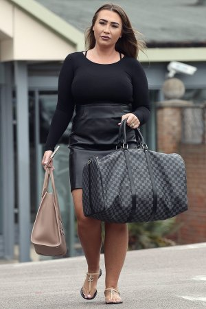 Lauren Goodger leaves the gym in Essex