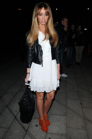 Lauren Pope arriving at the Houdini Theatre in London