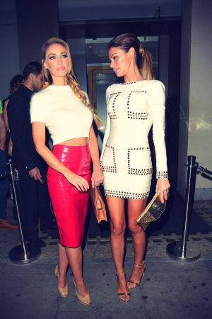 Lauren Pope & Chloe Sims Leaving Nobu in London