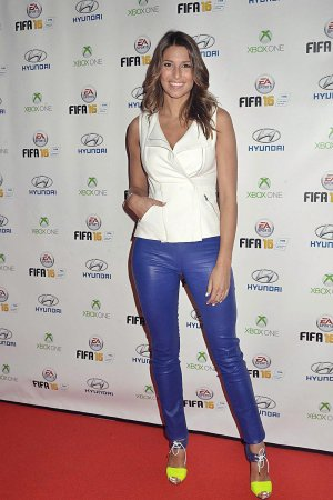 Laury Thilleman attends the FIFA 16 Live Event