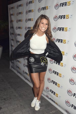 Laury Thilleman attends the new video game Fifa 15 party
