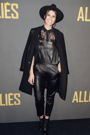Laury Thilleman poses as she arrives for the premiere of the film 'Allied'
