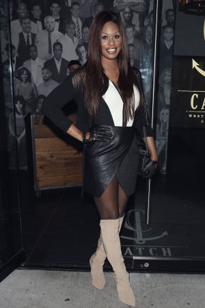 Laverne Cox leaves Catch Restaurant