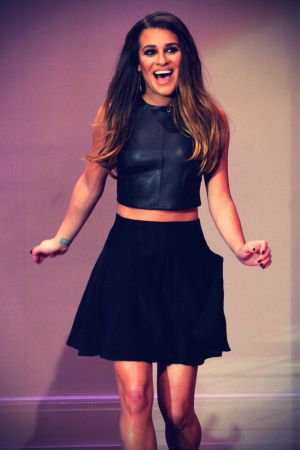 Lea Michele at The Tonight Show with Jay Leno