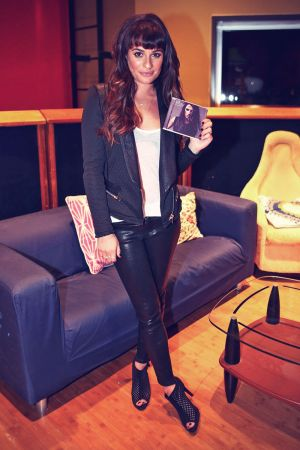 Lea Michele shows off her debut album Louder