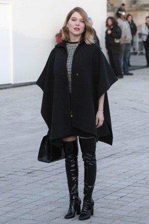 Lea Seydoux attends Louis Vuitton fashion show