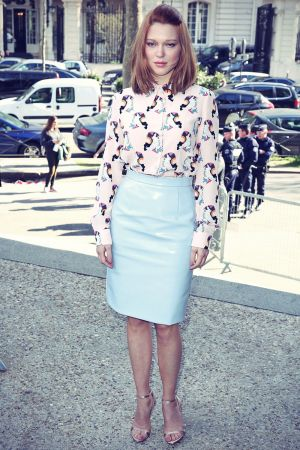 Lea Seydoux Attends Miu Miu Fashion Show