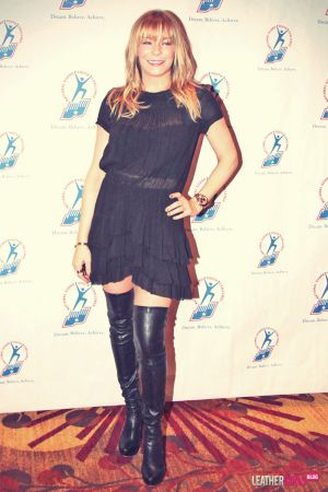LeAnn Rimes dons a sheer dress while attending the Youth National Guard Challenge