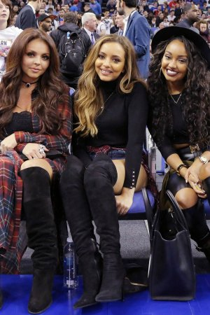 Leigh-Anne Pinnock, Jesy Nelson & Jade Thirlwall at an NBA Global Games