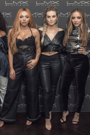 Leigh-Anne Pinnock, Jesy Nelson, Perrie Edwards and Jade Thirlwall 'LMX by Little Mix' launch