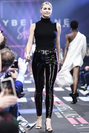 Lena Gercke attends Maybelline show