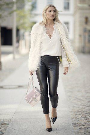 Lena Gercke Leather Style Trends Leather Celebrities